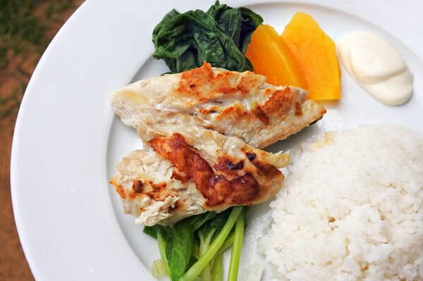 Indigenous Fijian seafood with papaya